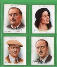Tobacco cigarette cards set Famous British Authors  1937